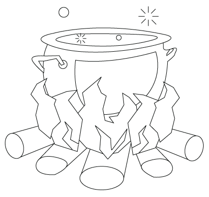 Cooking pot drawing