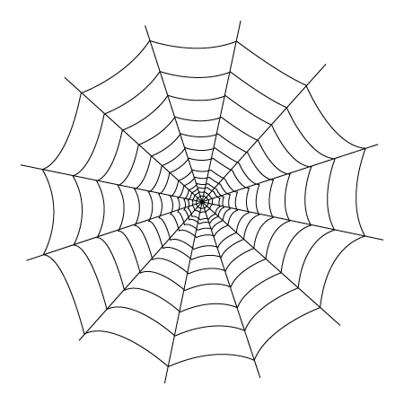 Spider in web drawing - photo#3