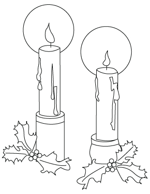 Christmas candles drawing