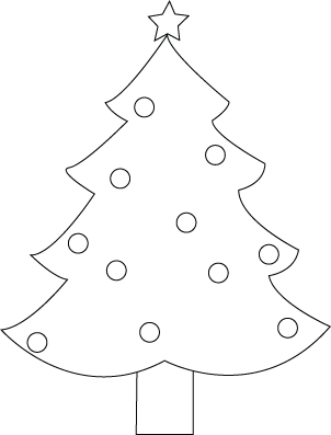 Christmas fir-tree drawing