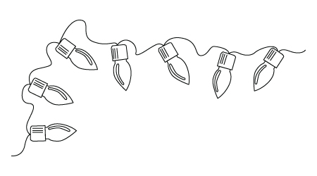 Christmas Lights Drawing Decorating