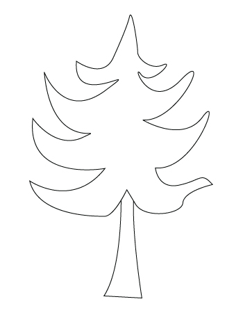 Christmas tree drawing