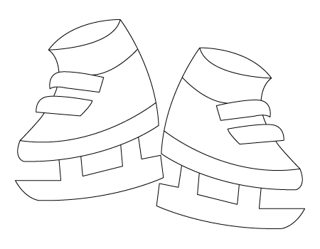 Ice skates drawing