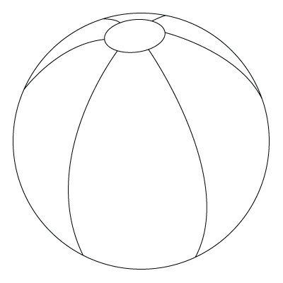Beach ball drawing