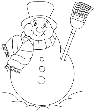 Snow man drawing