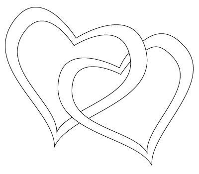 cool love heart drawings. Two hearts drawing