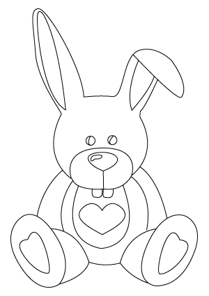 Valentine's Day bunny drawing