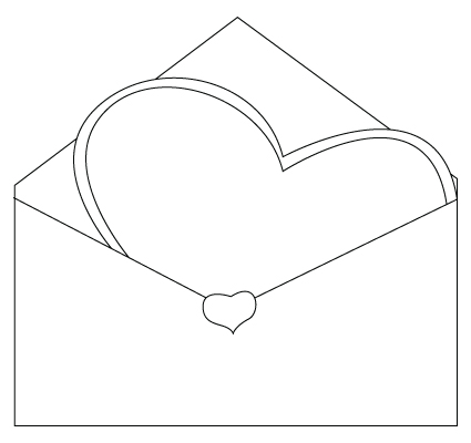 Valentine's Day envelope drawing