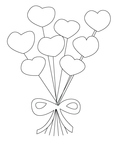 Valentine's Day flowers drawing