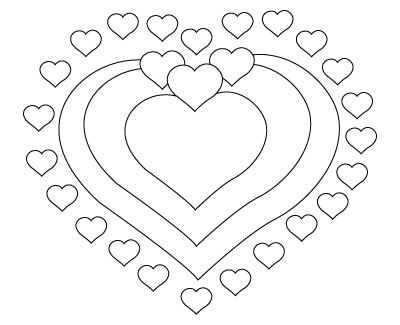 Valentine's Day hearts drawing