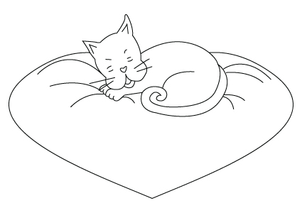 Valentine's Day kitty drawing