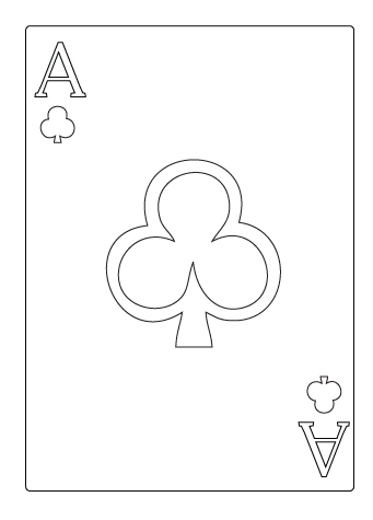 Ace of clover flower drawing