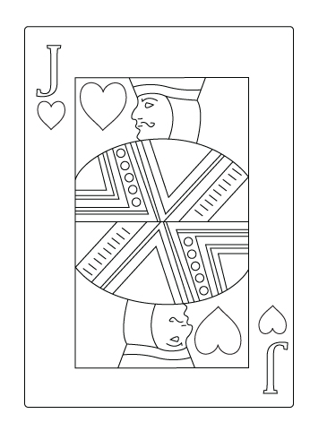 Jack of heart drawing
