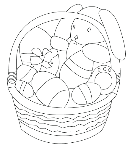 Basket Drawing Childrens Drawings