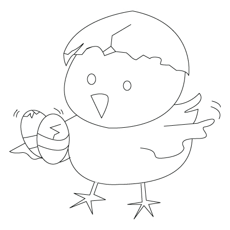 Easter chick drawing