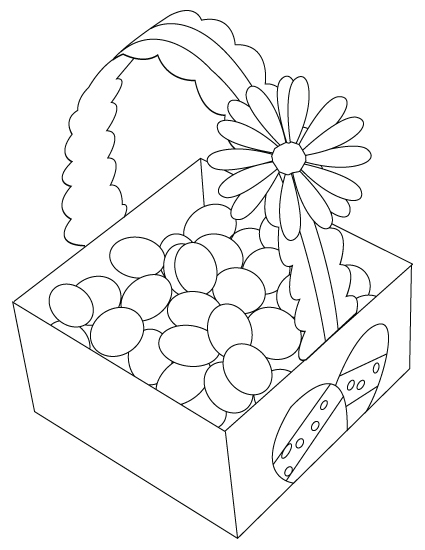 Easter egg basket drawing