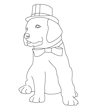 Christmas dog drawing